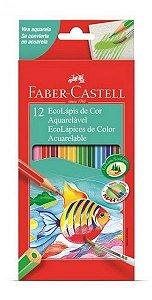Ecolapis De Cor Aquarelavel 12 Cores Faber Castell