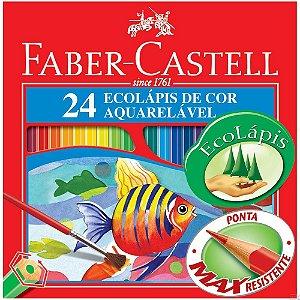 Ecolapis De Cor Aquarelavel 24 Cores Faber Castell
