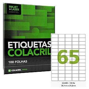 Etiqueta Adesiva Ca4351 65 Etq Colacril