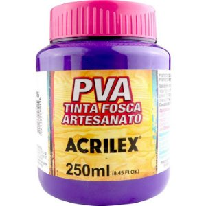 TINTA PVA FOSCA 250ML VIOLETA (516) ACRILEX
