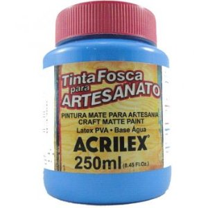 TINTA PVA FOSCA  250ML AZUL CELESTE (503) ACRILEX