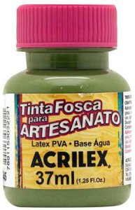 TINTA PVA FOSCA 37ML VERDE OLIVA (545) ACRILEX