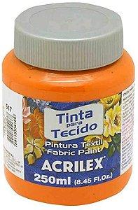 TINTA TECIDO FOSCA 250ML LARANJA (517) ACRILEX