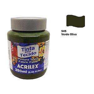 TINTA TECIDO FOSCA 250ML VERDE OLIVA (545) ACRILEX