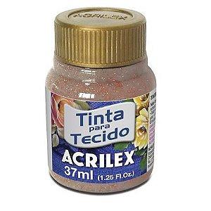 Tinta Tecido Glitter  37Ml Cobre (203) Acrilex