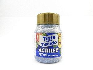 Tinta Tecido Glitter  37Ml Prata (202) Acrilex