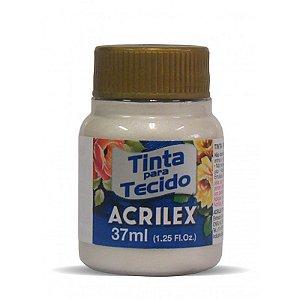Tinta Tecido Metálica 37Ml Branco Metálico (562) Acrilex