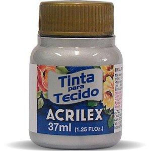 Tinta Tecido Metálica 37Ml Prata (533) Acrilex