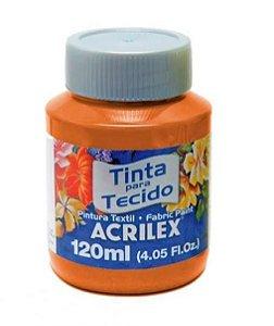TINTA TECIDO FOSCA 120ML LARANJA (517) ACRILEX