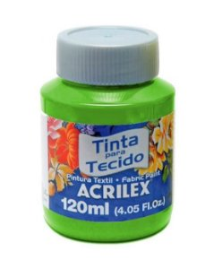TINTA TECIDO FOSCA 120ML VERDE FOLHA (510) ACRILEX