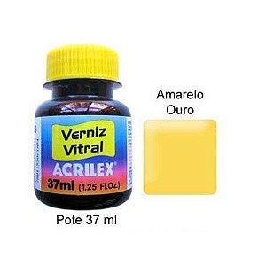 VERNIZ VITRAL 37ML AMARELO OURO (505) ACRILEX