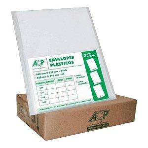 Envelope Plástico P/ Pasta Catálogo 0,15 4F Acp