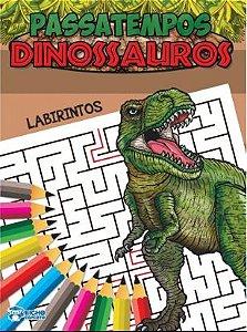Livro Passatempos Dinossauros Labirintos Bicho Esperto