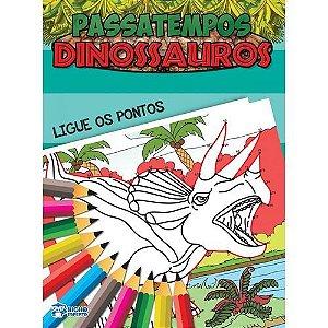 Livro Passatempos Dinossauros Ligue Os Pontos Bicho Esperto