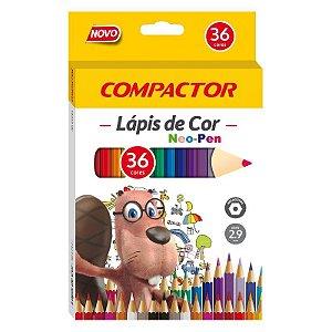 LAPIS DE COR NEO-PEN MADEIRA 2.9 MM C/36 COMPACTOR