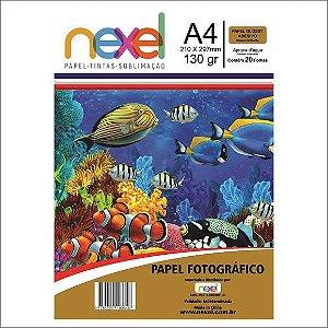 Papel Fotografico Glossy Adesivo 130G A4 Pct C/20 Folhas Nexel