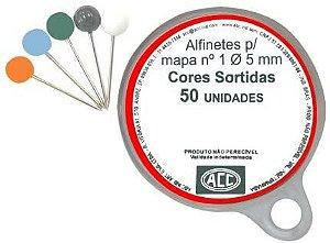 ALFINETES MAPA N°1 50 UNIDADES ACC