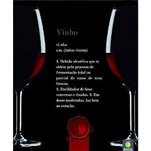 Quadro Decorativo Cartao Papel Mdf - Frases Vinho Sortido Brasfoot