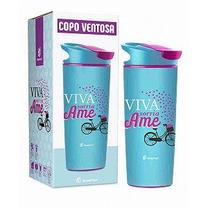Copo Ventosa 500Ml - Viva Ame Sorria - Brasfoot