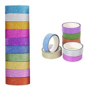 Fita Adesiva Washi Tape 15Mmx5M Glitter Cor Sortida Brw