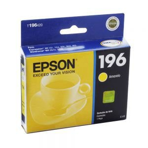 Cartucho De Impressora 196 Amarelo Epson
