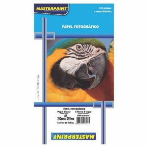 Papel Fotográfico Glossy A4 180G Masterprint