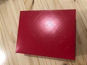 Caixa Retangular Tampa/Fundo New Relevo Vermelho P 17X13,5X4,5Cm Cromus