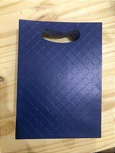 Caixa Plus Textura Azul Marinho M 22X9X32Cm Cromus