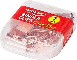Binder Clipes Rose 25Mm Cx C/7 Unidades Molin