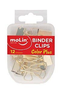 Binder Clipes Rose Color Plus 19Mm Cx C/12 Unidades Molin