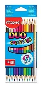 Lapis De Cor Color Peps Duo Cx C/12 Cores Maped