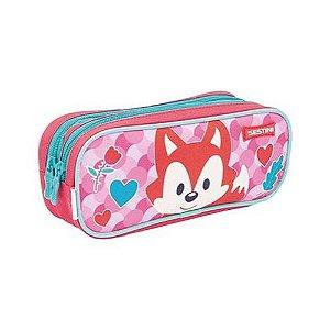 Estojo Escolar Duplo Kids Fox Sestini