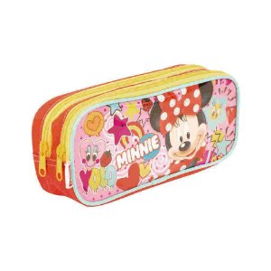 Estojo Escolar Duplo Mickey Mouse And Friends Minnie Sestini