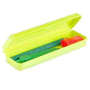 Estojo Plastico Plus Neon Amarelo Waleu