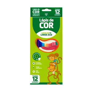 Lapis De Cor C/12 Grande Madeira Linha Eco Leo&Leo