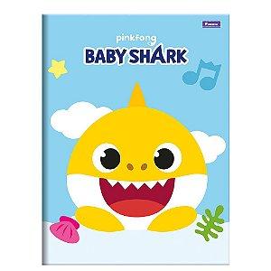 Caderno Brochura 1/4 48F Baby Shark Capa Sortida Foroni