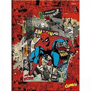 Caderno Brochura Capa Dura 1/4 80F Marvel Comics Capa Sortida Foroni