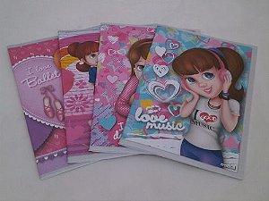 Caderno Brochura Flexivel 1/4 96F Credeal