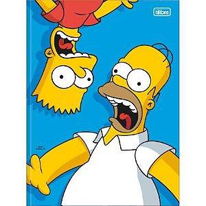 Caderno Brochura Universitario 48F The Simpsons Capa Sortida Tilibra
