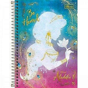 Caderno Espiral 1/4 80F Aladdin Capa Sortida Tilibra