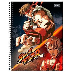 Caderno Universitário 1 Matéria 80F Street Fighter Capa Sortida Tilibra