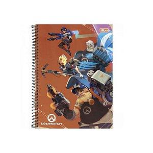 Caderno Universitário 1 Matéria 96F Overwatch Capa Sortida Tilibra