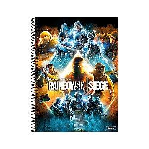 Caderno Universitário 1 Matéria 96F Rainbown Six Capa Sortida Foroni