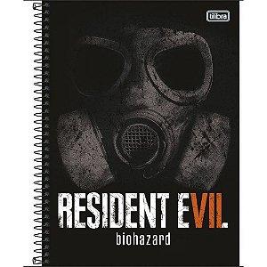 Caderno Universitário 1 Matéria 96F Resident Evil Capa Sortida Tilibra