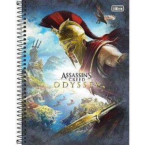 Caderno Universitário 12 Matérias 192F Assassin'S Creed Odyssey Capa Sortida Tilibra