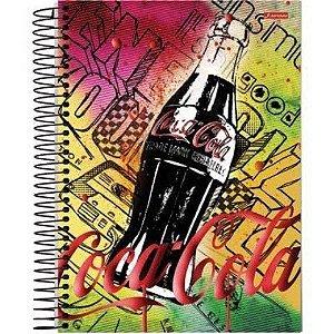 Caderno Universitario 12 Matérias 240F Coca Cola Capa Sortida Jandaia