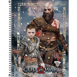 Caderno Universitário 16 Matérias 256F God Of War Capa Sortida Tilibra