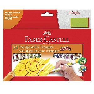 Lapis De Cor Jumbo 24 Cores Faber Castell
