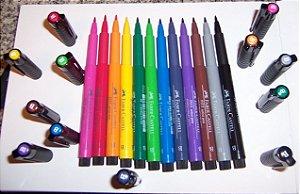 Caneta Pitt Artist Pen Big Brush Media Faber Castel