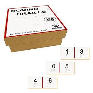 Domino Braille Em Mdf 28 Peças Ciabrink
